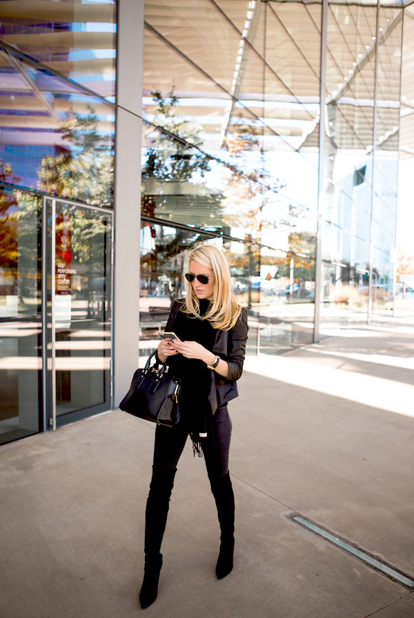 krystal schlegel blogger bag scarf jacket top jeans jewels. ed130877ce135