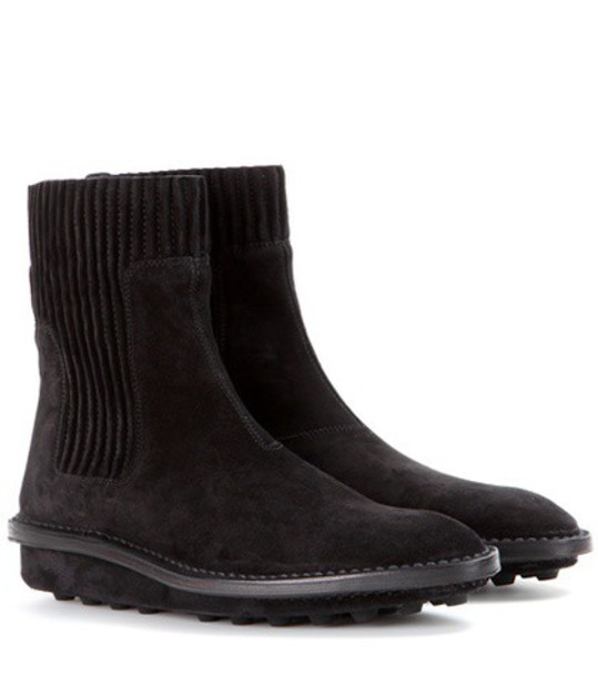 Balenciaga suede ankle boots boots ankle boots suede black shoes
