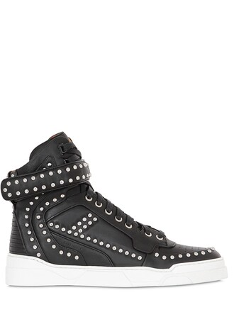 studded high sneakers high top sneakers leather black shoes