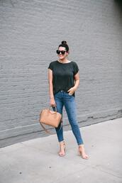 kendi everyday,blogger,jeans,t-shirt,top,sandals,givenchy bag,summer outfits
