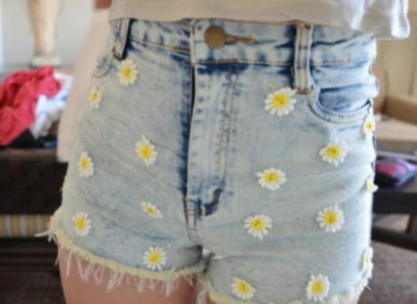 shorts flower shorts daisy shorts cute shorts. summer