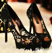 lace up,shoes,shorts,high heels,heels,black stilettos,stilettos,lace,pumps,black shoes,black heels,black pumps,lace pumps,lace high heels,black,black lace,lacey black high heels,black lace heels,patform,prom shoes,lace heels,black high heels,peep toe pumps