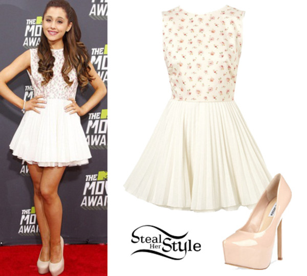 dress ariana grande shoes
