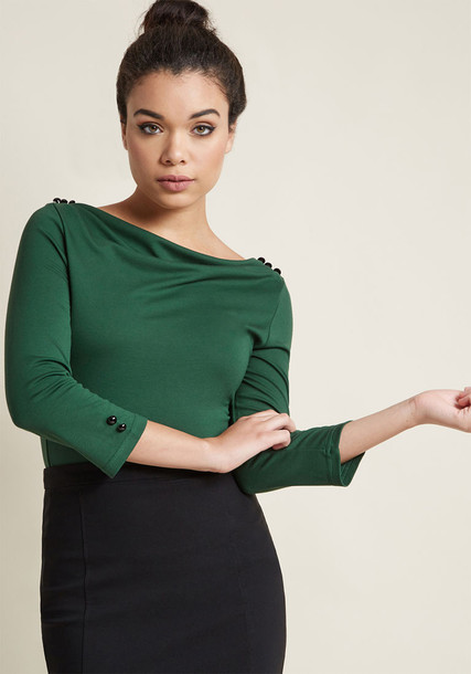 Modcloth top knit green