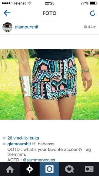 aztec short tumblr shorts weheartit