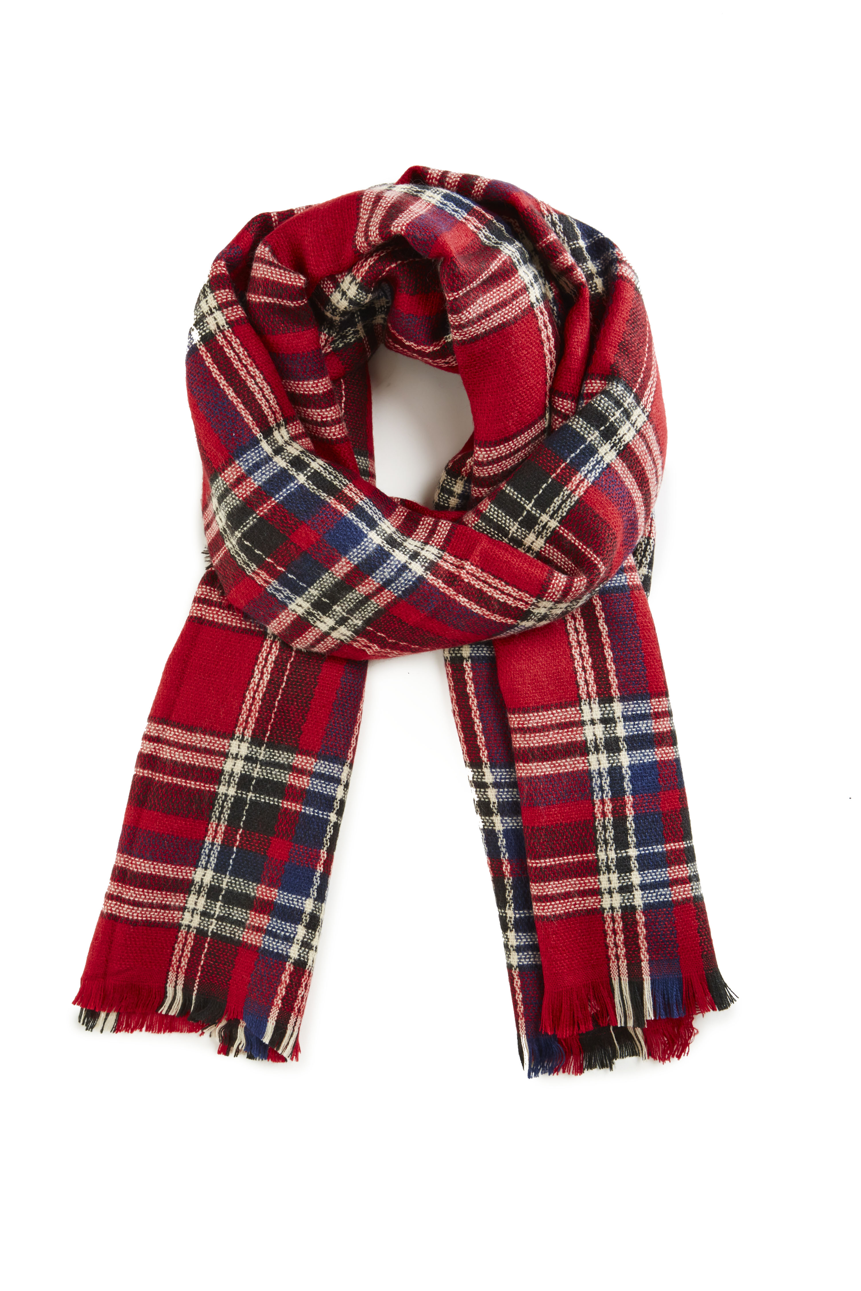 Dailylook: baldwin oversized plaid scarf in red