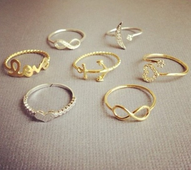 Knuckle Rings Tiny MID Finger Silver Gold Plated Designer Inspired