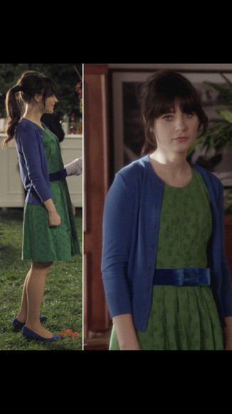 dress new girl zooey deschanel jess day cardigan shoes