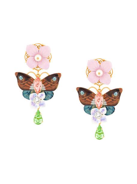 women butterfly earrings leather jewels