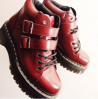 drmartens wine color boots leather boots