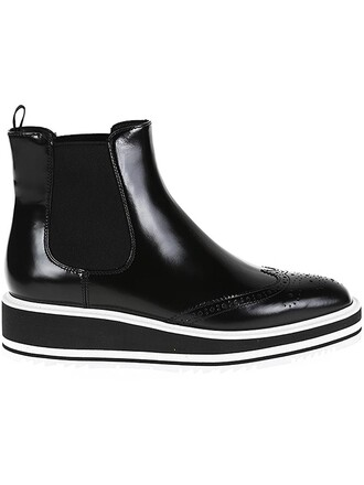 women boots chelsea boots leather shoes