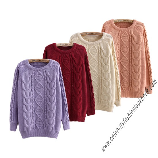 Candy Cable Fit Sweater - Pullovers - Knitwears - Clothing