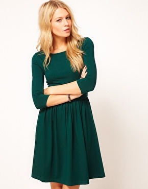 ASOS | ASOS Skater Dress With Slash Neck. at ASOS