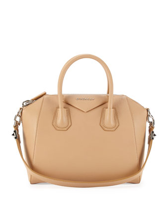 Givenchy Antigona Sugar Satchel Bag, Light Beige