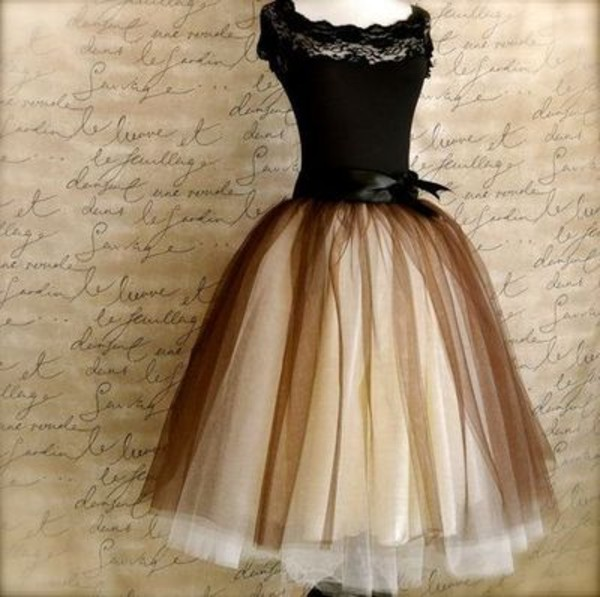 dress classic 50s style vintage retro lace bow classy prom dress aliexpress tan black tule ball gown dress tea length ribbon vintage black and tan black dress pretty dress! love multicolor bow dress fluffy cute dress 40's vintage dress