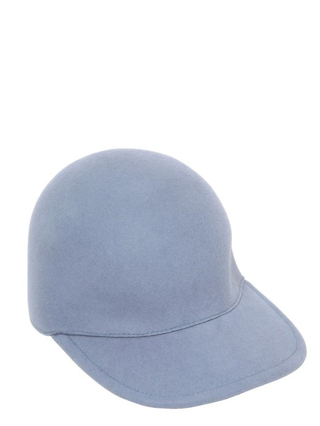 Stella McCartney baseball hat baseball hat wool blue