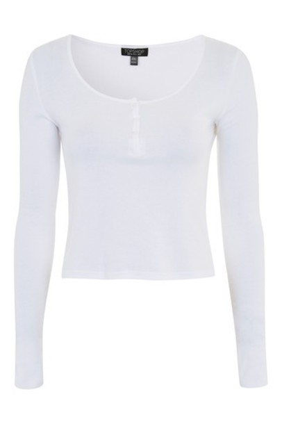 Topshop top long white