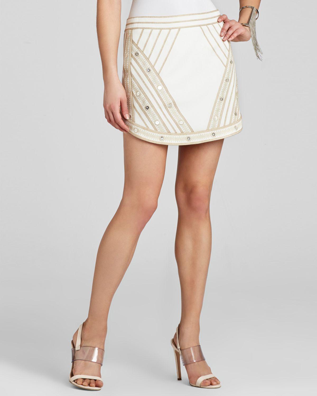 BCBGMAXAZRIA Mini Skirt - Kanya Embroidered | Bloomingdale's