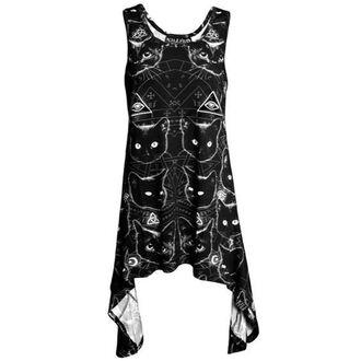 tank top top dress racerback racerback top racerback tank top racerback tank black tank top dress dress top cats black cat illuminati lol wicca wiccan satan satanic symbols crescent moon moon stars killstar dark