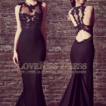 Aliexpress.com : Buy Sexy Vestidos De Fiesta Scoop Neck Sleeveless Black Mermaid Long Prom Evening Dress DYQ507 from Reliable dress webshop suppliers on Love Kiss Evening Dress and Wedding Dress Manufactory | Alibaba Group