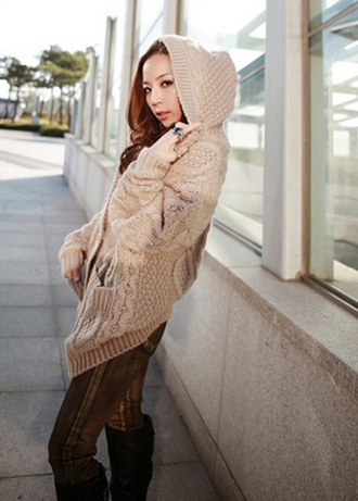 sweater hood women fashion style