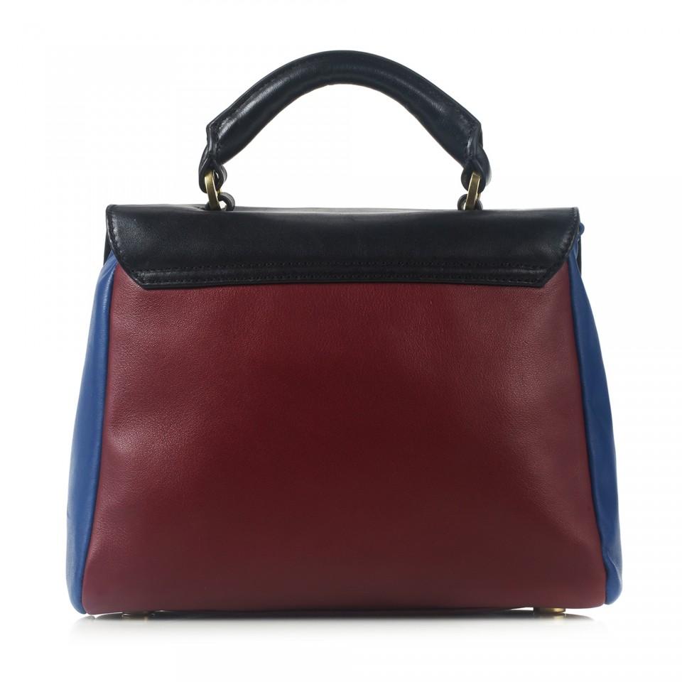 Colour block small izzy satchel