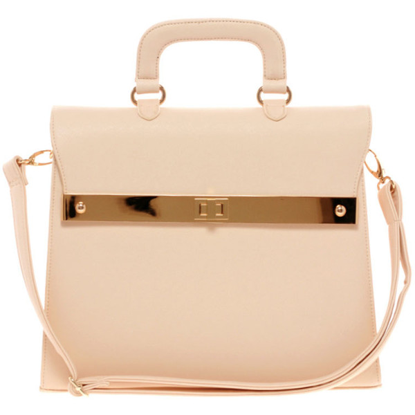 ASOS Top Handle Bag With Bar Lock Fitting - Polyvore