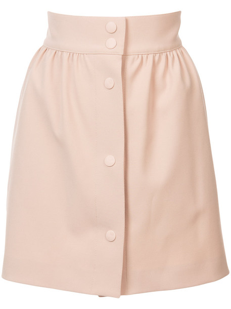 RED VALENTINO skirt mini skirt mini high waisted high women spandex nude
