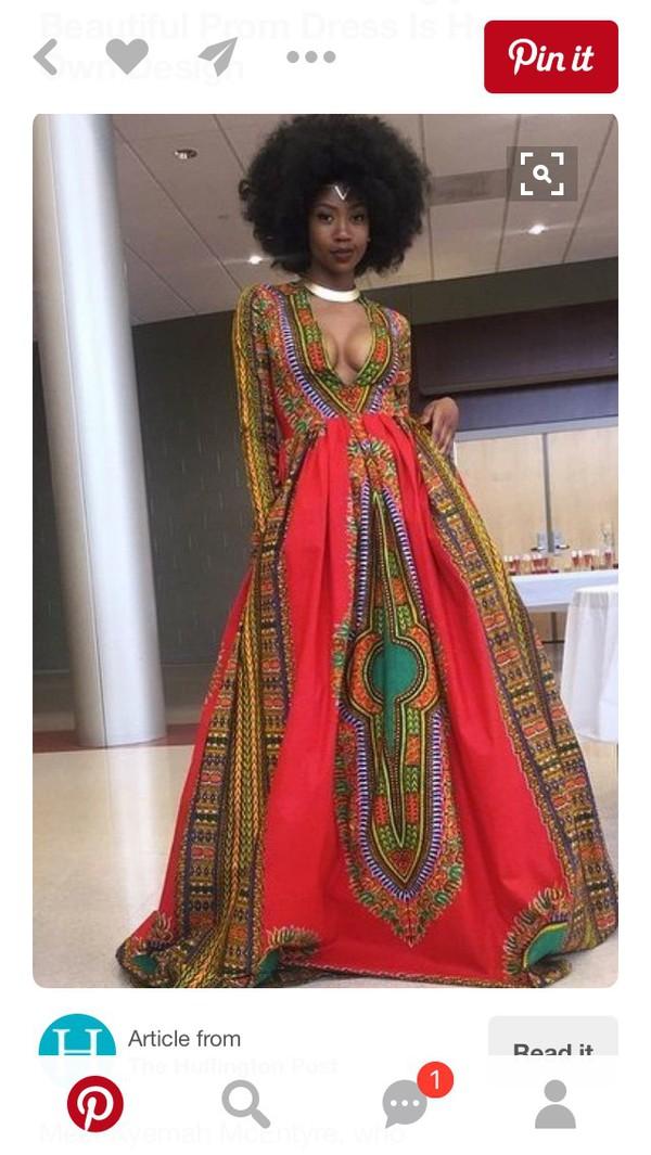 dress gown african print maxi dress dashiki long sleeved maxi dress