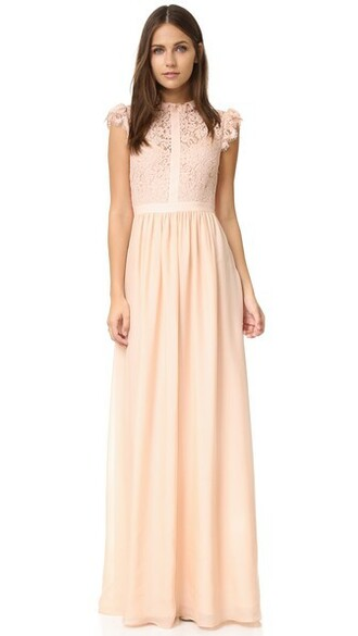 gown lace blush dress