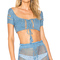 Majorelle hilary top in dusty blue from revolve.com