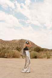 hat,nastygal,nastygal.com,sparkle,embellished,crop tops,embellished skirt,sequins,sequin skirt,black crop top,flat brim,skirt,shirt