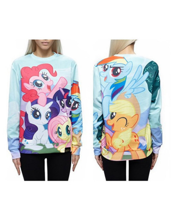 pony sweater 360º 360 wow wowawesomeworld.co..uk little pony cartoon cartoon sweater pullover top 3d sweatshirts sweatshirt funny funny shirt