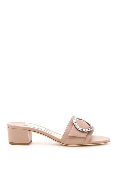 Jimmy Choo mules ballet pink shoes