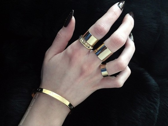 jewels bracelets gold rings rings ring studded ring, gold midi rings gold bracelets midi rings gold knuckle rings spikes studs rings with studs