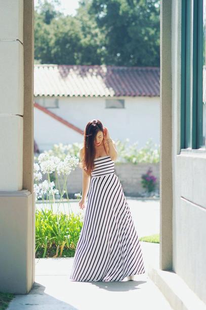 dress maxi dress striped dress