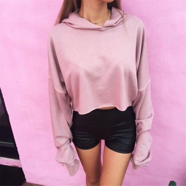Blouse: tumblr, sweater, hoodie, pink, oversized sweater - Wheretoget