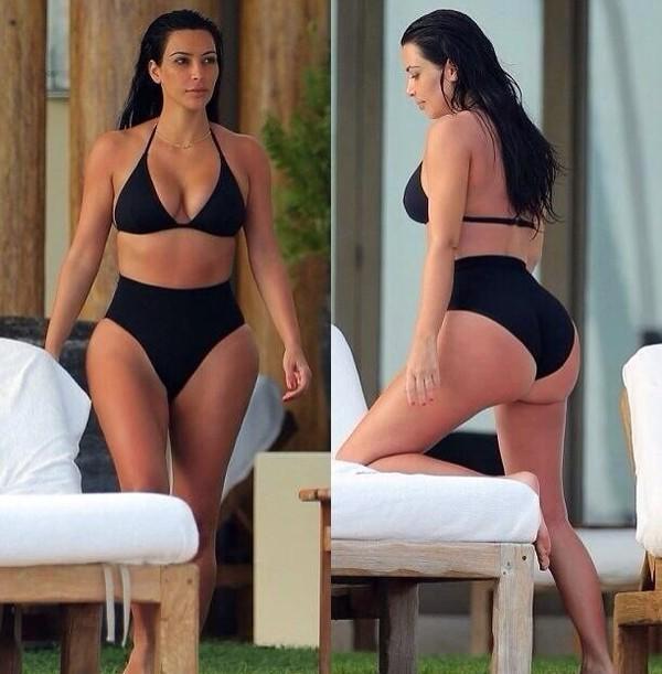 swimwear black swimwear kim kardashian