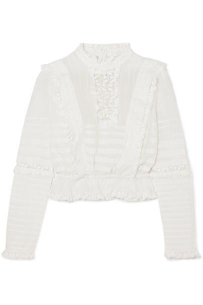 top mesh lace cotton