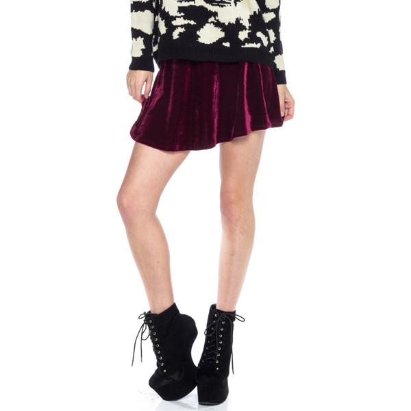 skirt crush velvet skater mini makeup table vanity row dress to kill