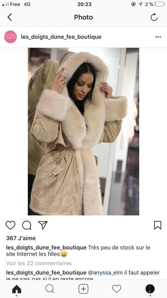 coat beige fur