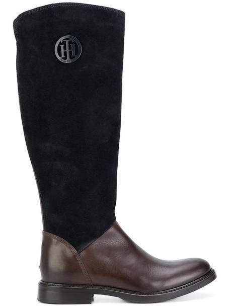 women leather cotton blue shoes