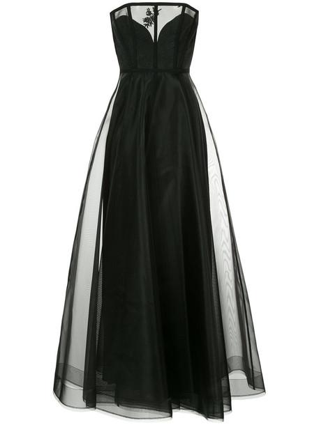 Alex Perry gown women cotton black dress