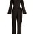 Long-sleeved stretch-crepe jumpsuit