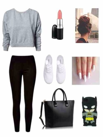 bag black bag grey shoes jewels phone case