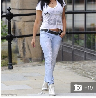 jeans acid wash skinny jeans boyfriend jeans blue fashion style stylish women ladies summer casual celebrity style