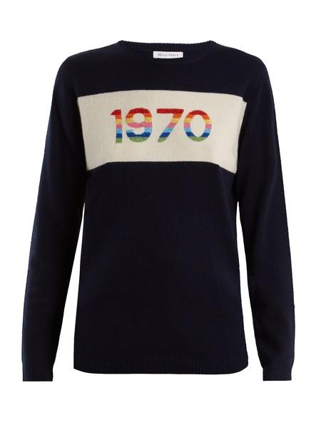 Bella Freud sweater navy white