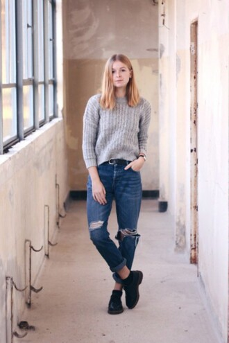 sweater denim warm knitted sweater zaful urban fall outfits style lookbook casual