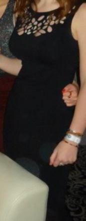 dress,midi dress,cut-out,black