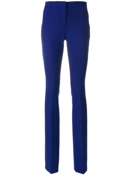 Victoria Victoria Beckham women cotton blue wool pants